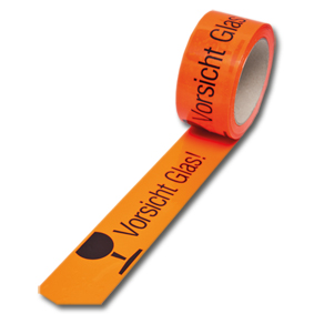 PVC Warnklebeband fluor orange -